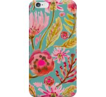 Daisies on Aqua iPhone Case/Skin