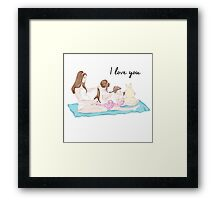 I love you mum Framed Print