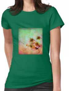 Dreamy floral design Womens Fitted T-Shirt