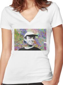 Mac Demarco LSD Women's Fitted V-Neck T-Shirt
