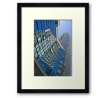 Modern blue glass wall of skyscraper in Buenos Aires, Argentina Framed Print