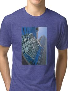 Modern blue glass wall of skyscraper in Buenos Aires, Argentina Tri-blend T-Shirt