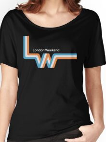 "Retro LWT ""ribbon"" television logo  Women's Relaxed Fit T-Shirt"