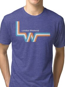 "Retro LWT ""ribbon"" television logo  Tri-blend T-Shirt"