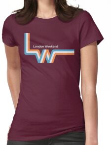 """Retro LWT """"ribbon"""" television logo  Womens Fitted T-Shirt"""