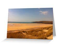 Fresh water west beach pembrokeshire Greeting Card