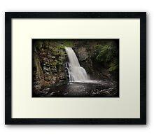Bushkill Main Falls Gorge Framed Print