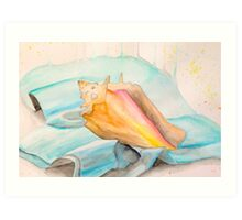 Conch Shell Watercolor Art Print