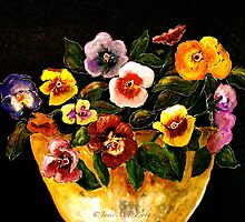 Flowers...Pansies by ©Janis Zroback