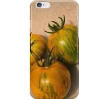 3 green zebra tomatos iPhone Case/Skin