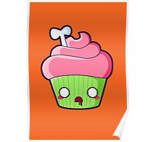 Spooky Cupcake - Zombie Poster