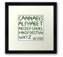 Cannabis leaf alphabet Framed Print