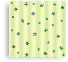 Cannabis rain Canvas Print