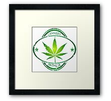 Cannabis stamp Framed Print