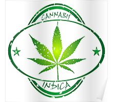 Cannabis stamp Poster