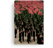 Suits and Flowers Canvas Print