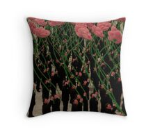 Suits and Flowers Throw Pillow