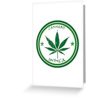 Cannabis stamp Greeting Card