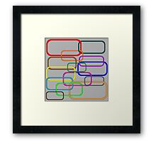 Chain in colors Framed Print