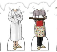 Mrs Hudson Paper Dolls Sticker