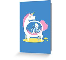 The Truth About Unicorns [Blue] Greeting Card