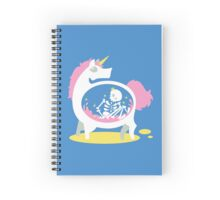 The Truth About Unicorns [Blue] Spiral Notebook