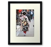 Geisha in Kyoto Framed Print
