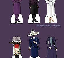 Mrs Hudson Paper Dolls by bluebell42