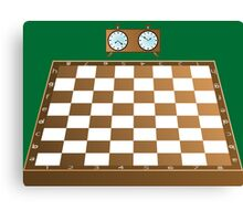 Chess board and clock Canvas Print