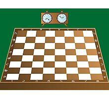 Chess board and clock Photographic Print