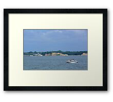 Boating on the Missouri River-Lewis and Clark Recreation Area, Yankton, SD Framed Print