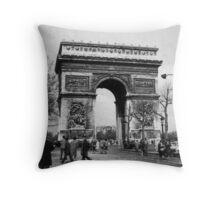 Arc de Triomphe - Paris 1960 Throw Pillow