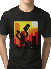 Robot destroy Tri-blend T-Shirt
