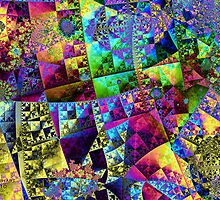 Patchwork Fractal by Julie Everhart