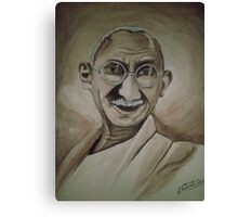 Father Of Nation - Mahatma Gandhi  Canvas Print
