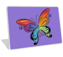 Graceful colorful butterfly Laptop Skin