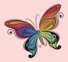 Graceful colorful butterfly Kids Tee