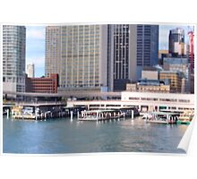 Circular Quay  on a Small Scale Poster