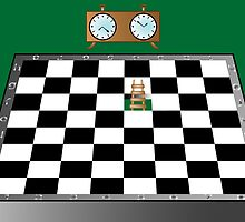 Chess, ladder and clock by Laschon Robert Paul