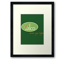 Valco - Serves You Right (Trollied TV show) Framed Print