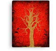Abstract Tree Oil Painting Canvas Print