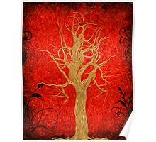 Abstract Tree Oil Painting Poster