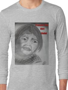 Indian Girl Struggling For Right Long Sleeve T-Shirt