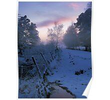Sunrise in Speyside Poster