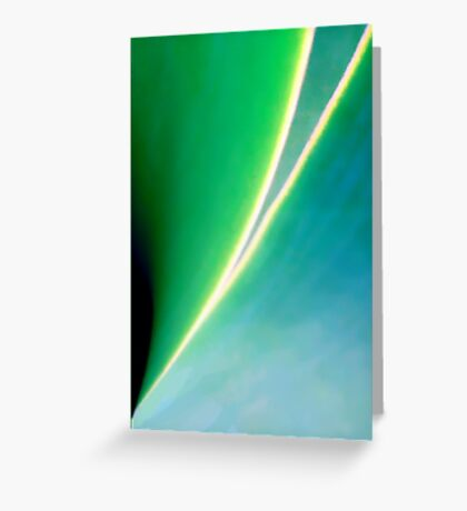 Green and Blue and Graceful Lines Greeting Card