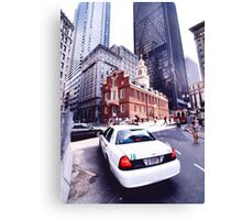 boston cab Canvas Print