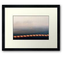 Low Lying Light Framed Print
