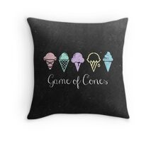 Game Of Cones Throw Pillow