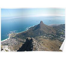 View from top of table mountain Poster