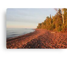 Red Rocks of Lake Superior Canvas Print